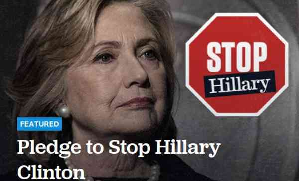 Pledge to Stop Hillary Clinton
