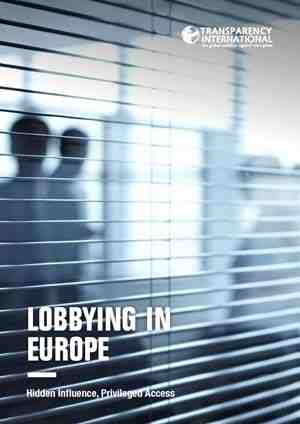Unregulated Lobbying Leads to Corruption in Europe