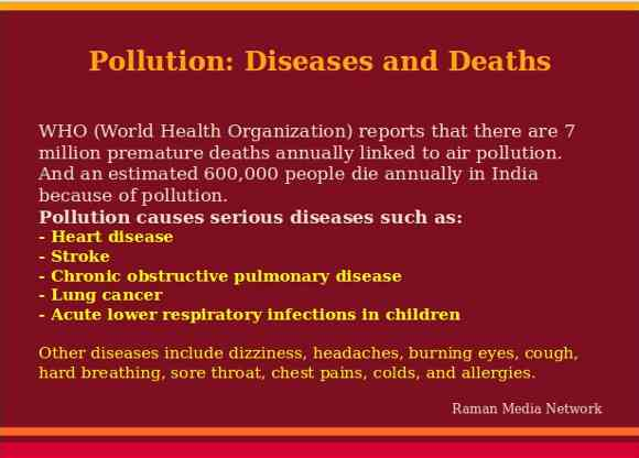 Pollution: Diseases and Deaths