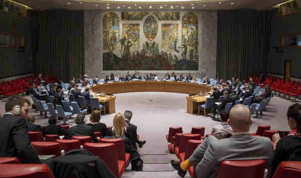 Wide view of the Security Council Chamber. UN Photo/Loey Felipe (file)