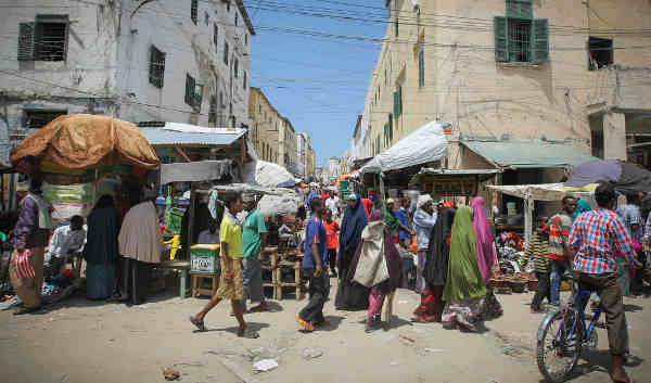 A street scene in Mogadishu, the Somali capital. Photo: AU-UN IST / Stuart Price
