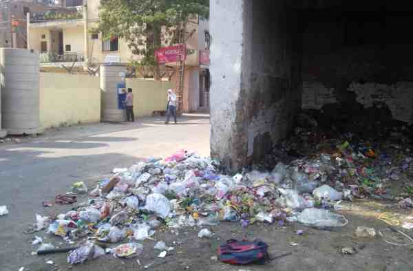 Dirty Site at J.J. Colony in New Delhi