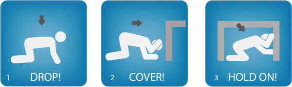 Drop, Cover and Hold On During an Earthquake