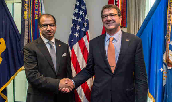 Ash Carter with Salim al-Jibouri