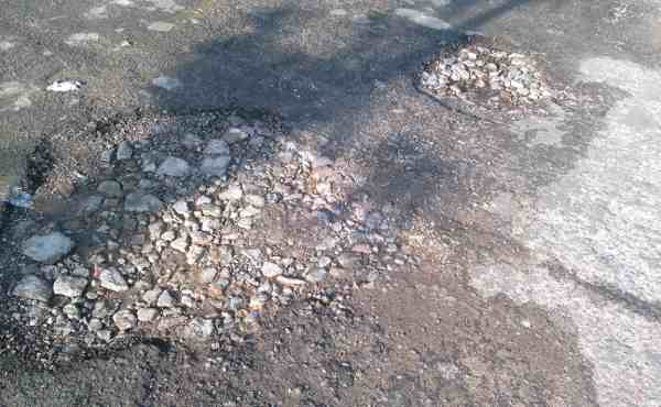 These broken roads cause fatal accidents.