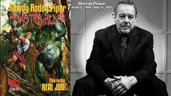 WWE Legend Rowdy Roddy Piper Monster Killer Graphic Novel