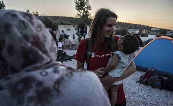 Save the Children has begun assessing the needs of refugee children on the Greek Island of Lesvos. Photo by Anna Pantelia for Save the Children.