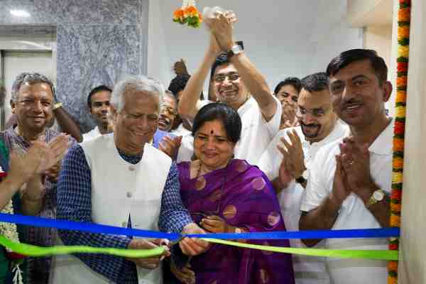 Nobel Laureate Muhammad Yunus opened the Grameen Koota new corporate office in Jayanagar, Bangalore on Saturday, Sept. 5, 2015.