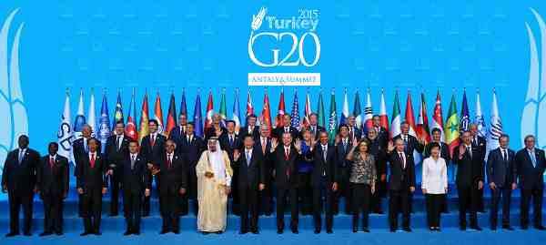 G20 Leaders at the Antalya Summit