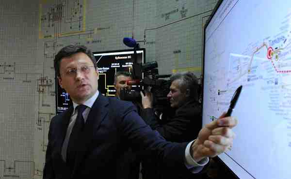 Before the launch of the first stage of a power bridge to Crimea. Energy Minister Alexander Novak.