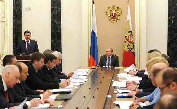 Vladimir Putin at the Meeting of the Anti-Corruption Council