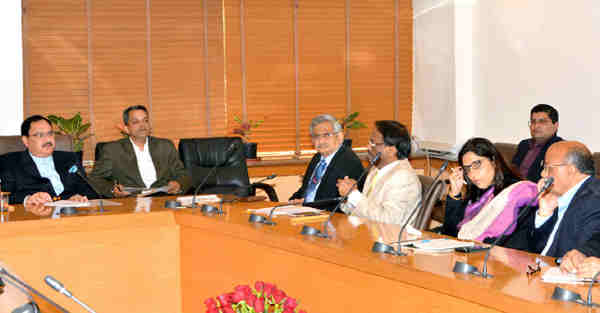 J.P. Nadda chairing the high level meeting on ZIKA Virus, in New Delhi on January 29, 2016