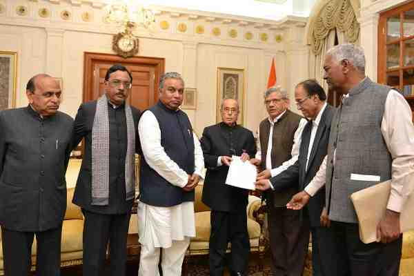 Opposition Leaders Meeting the President of India