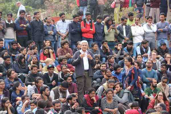 Prakash Karat Addressing JNU Students