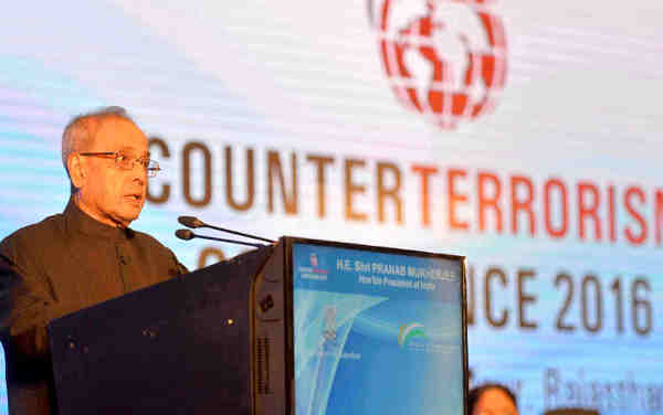 Pranab Mukherjee addressing at the inauguration of the Counter Terrorism Conference - 2016
