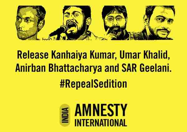 Amnesty India Demands the Repeal of Sedition Law