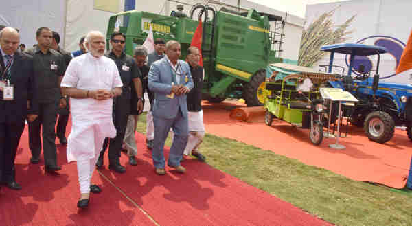 Narendra Modi at the Krishi Unnati Mela, in New Delhi on March 19, 2016