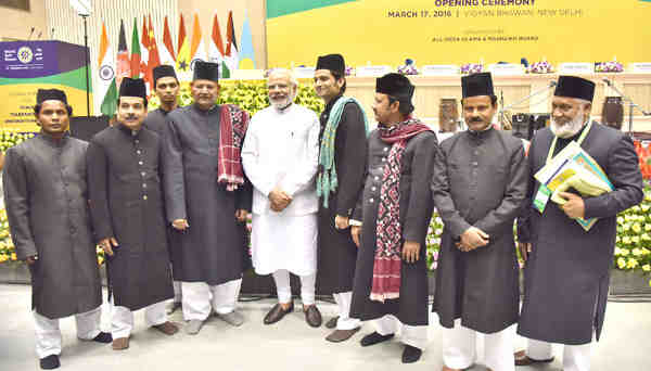 Narendra Modi at the World Sufi Forum, in New Delhi on March 17, 2016