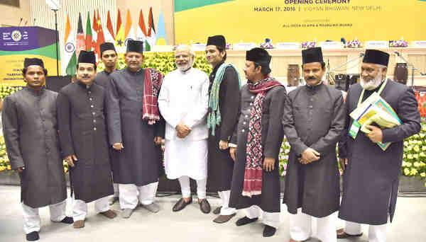 Narendra Modi at the World Sufi Forum, in New Delhi on March 17, 2016