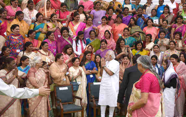 Narendra Modi at the valedictory session of the National Conference of Women Legislators, at the Central Hall of Parliament, in New Delhi on March 06, 2016