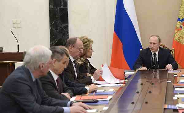 Putin meeting with permanent members of the Security Council
