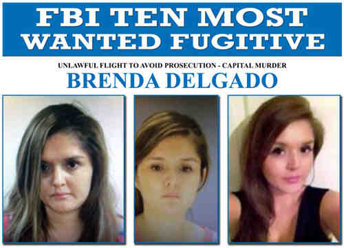 Brenda Delgado in FBI's Most Wanted Fugitives List