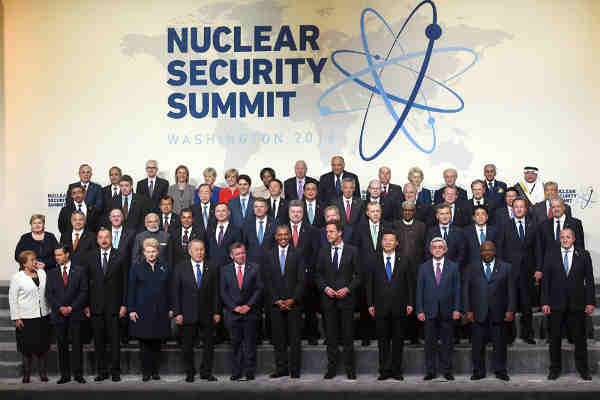 Narendra Modi with other leaders in the family photo, at the Nuclear Security Summit 2016, in Washington DC on April 01, 2016