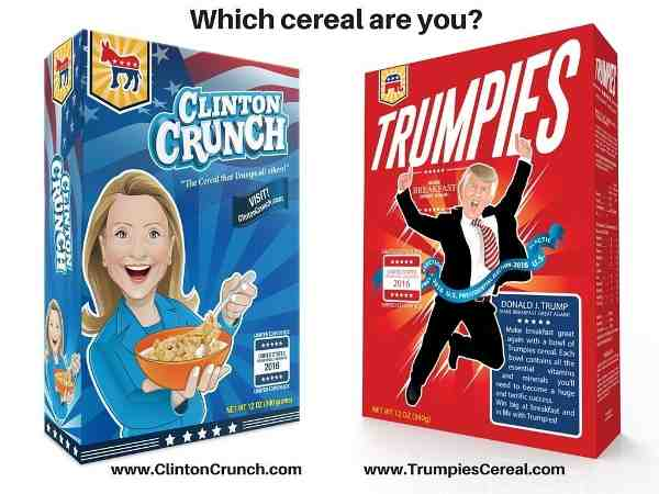 Hillary Clinton or Donald Trump for Breakfast?