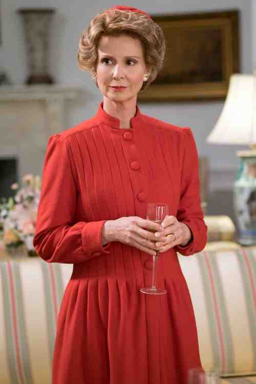 Cynthia Nixon as First Lady, Nancy Reagan.
