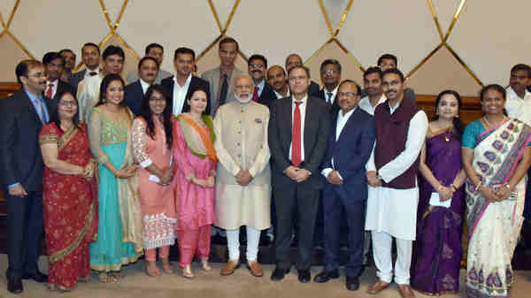 Narendra Modi attends special community reception, in Doha, Qatar on June 05, 2016
