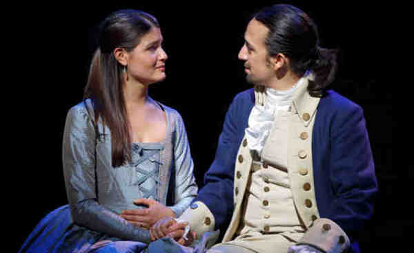 Hamilton's America; Phillipa Soo and Lin-Manuel Miranda; Courtesy of Joan Marcus.