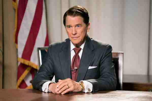 Tim Matheson as the 40th President of the United States, Ronald Reagan.