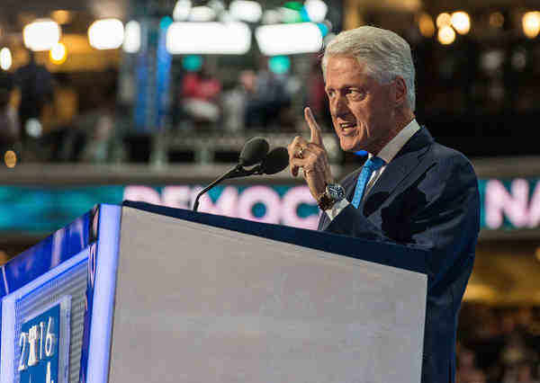 Bill Clinton at the Democratic National Convention, 2016