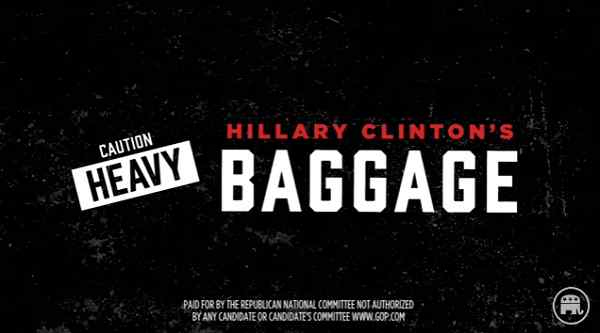Republican Party Releases New Video: Hillary's Baggage