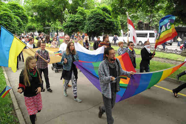 Lesbian, Gay, Bisexual, Transgender and Intersex (LGBTI) pride march. Photo: OHCHR / Joseph Smida