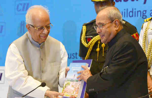 Pranab Mukherjee at the inauguration of a CII-IIEST conference on the theme 'Enabling Make in India through Industry Academia Innovation Platform', in Kolkata on August 22, 2016. The Governor of West Bengal, Keshari Nath Tripathi is also seen.