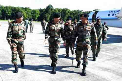General Dalbir Singh visits the Gajraj Corps at Tezpur, Assam