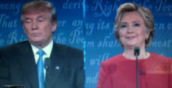 Presidential Debate - Donald Trump and Hillary Clinton