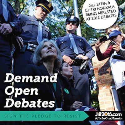 Jill Stein Demands Open Debates in the U.S. Election