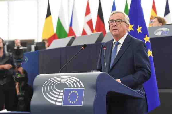 European Commission President Juncker delivers 2016 State of the Union address.