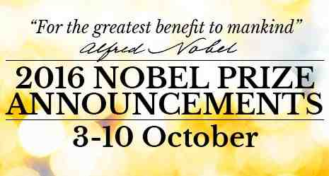 Dates Announced for the 2016 Nobel Prizes
