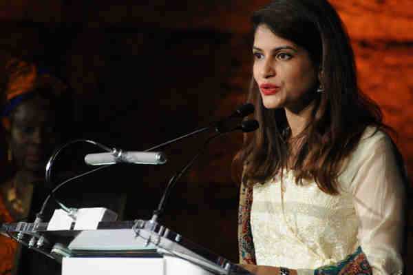 On September 20, 2016, Dr. Sara Saeed Khurram of Pakistan receives The Campaigner Award at the Global Awards Dinner, held in New York City, USA