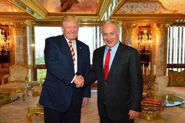 Donald J. Trump with Israeli Prime Minister Benjamin Netanyahu