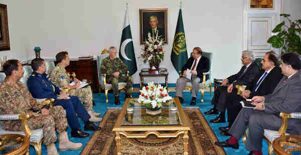 General Peter Pavel, Chairman Military Committee NATO called on Pakistan Prime Minister Muhammad Nawaz Sharif on Oct. 6, 2016 at PM House Islamabad