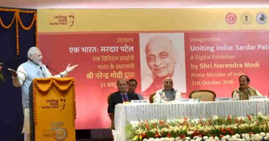 "Narendra Modi addressing the gathering at the inauguration of the digital exhibition - ""Uniting India: Sardar Patel"", on the occasion of Rashtriya Ekta Diwas, in New Delhi on October 31, 2016"