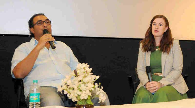Filmmaker Shivendra Dungarpur and the Short Film Preservationist Teesa Idlewine at a workshop on Restoration of Satyajit Ray Preservation Project, by the Academy of Motion Picture Arts & Sciences (AMPAS), during the 47th International Film Festival of India (IFFI-2016), in Panaji, Goa on November 23, 2016
