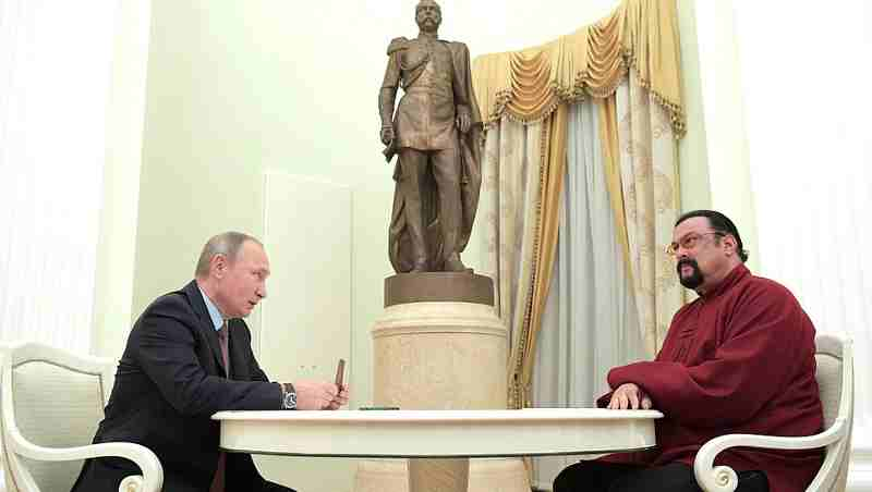 Vladimir Putin With Actor Steven Seagal
