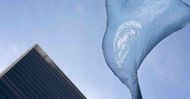 The United Nations flag flies at UN Headquarters in New York. (file) UN Photo / Mark Garten