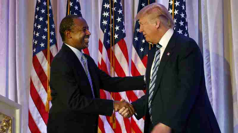 Dr. Ben Carson with Donald Trump