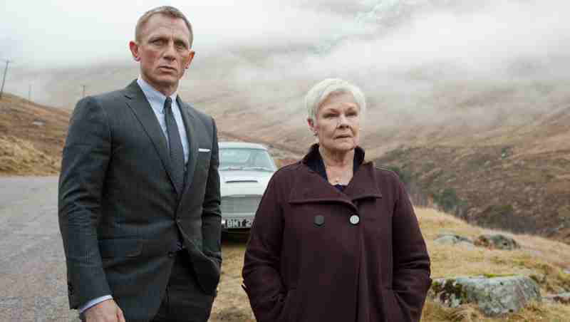 Daniel Craig with Dame Judi Dench